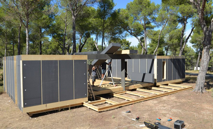 popup house r volutionne la construction avec du bois certifi pefc pefc. Black Bedroom Furniture Sets. Home Design Ideas